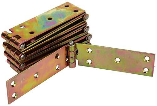 KOTARBAU Kistenband 150 x 25 mm 10. Stk Gerollte Tischband Möbelscharniere Möbelband Verzinkt Torband Scharniere Türband Kistenband Schrankscharniere