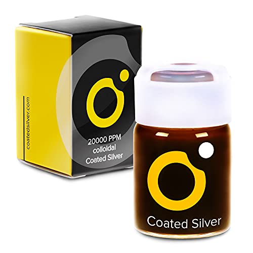 Coated Silver - High Efficacy Colloidal Silver - 16 Drop (Makes 64oz)