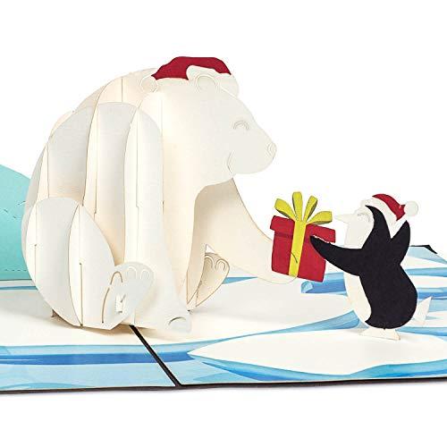 PaperCrush® Biglietto D'Auguri Pop-Up Invernale \