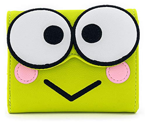 Hello Kitty Loungefly - Keroppi Portefeuille Vert, Imitation Cuir,