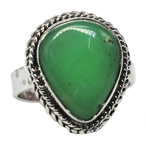 Ring Chrysopras Sterling-Silber 925 Größe 8 (5,57 g)