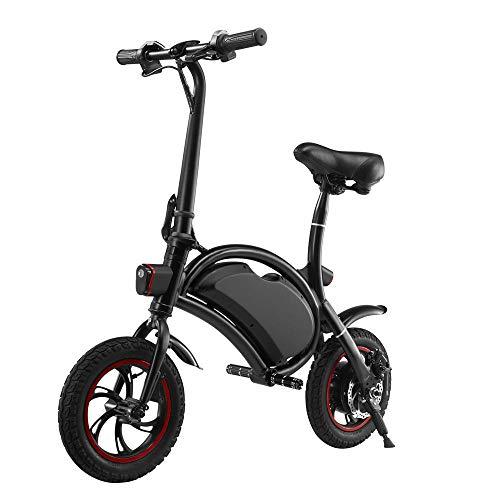 Shiyajun Scooter Pieghevole per Auto elettrica Pieghevole per Adulti da 12 Pollici Mini Bicicletta Pieghevole in Lega di Alta qualità-Nero 12 Pollici