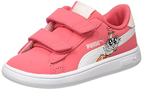 PUMA Smash V2 Lil V INF, Basket Mixte Enfant, Rose Paradis, 37.5 EU