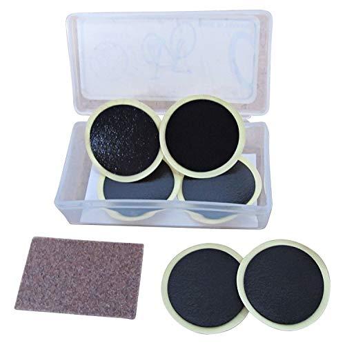 THUMBS UP - Juego de 6 parches sin pegamento para reparación de pinchazos, 25 mm cada uno + papel de lija