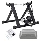BTGGG Turbo Bike Trainer Stand Magnetic Bicycle Trainer Bicycle Training Stand for Road & Mountain Bikes with Folding Steel Frame, Wire control