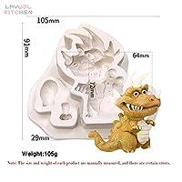 Honana 製氷皿 漫画恐竜型のシリコーンモールド様々な恐竜型チョコレートファッジ金型ケーキ装飾工具樹脂型 (Color : 12)