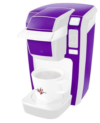 Decal Style Vinyl Skin compatible with Keurig K10 / K15 Mini Plus Coffee Makers Solids Collection Purple (KEURIG NOT INCLUDED)