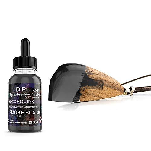 DIPON Smoke Black Alkoholtinte Alcohol Ink 20 ml für Epoxidharz Resin Petri Art Farbstoff Transluzent Epoxy