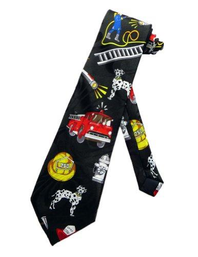Steven Harris Cravate pompier - Noir - taille unique