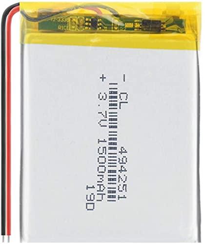 3.7v 1500mAh 494251 Batería de polímero de Litio para Instrumentos de navegación MP3 MP3 Pequeños Juguetes y Otras baterías de Productos-1 Pieza