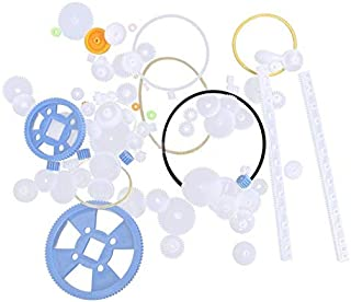 EKIND 80Pcs Plastic DIY Robot Gear Kit Gearbox Motor Gear Set Gear Worm Compatible for DIY Car Robot RC Model Helicopter Remote Control Aircraft