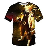 2021 New Anime Naruto T-shirts For Men Summer Casual Tops Fashion 3D Printed Tees O-neck Comfortable Hip-Hop Clothing XXS-5XL