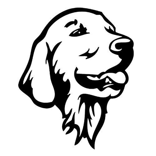 12,2 x 14,7 cm Golden Retriever Dog Car Bumper Stickers Schattige dieren voor honden auto styling accessoires Deco Zwart Zilver Zwart