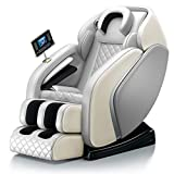 SL-Track Massage Chair, Zero Gravity Recliner Chair with Bluetooth Foot Massager 4D Air Body Kneading Tapping,Gray