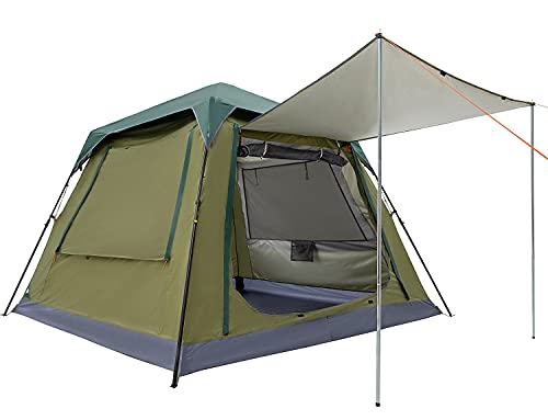Ubon-6-Person-Family-Camping-Tent-Instant-Lightweight-Camping-Glamping-Sleepover-Backpacking-Tent-Durable-Cabin-Tent-with-Top-Rain-Fly-60-Second-Easy-Setup