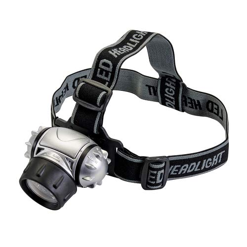Lampe frontale LED 12 LED Pratique, Multimode avec 4 modes : 4 LED (Power Saver), 8 LED, 12 LED et 12 LED clignotant. Bandeau antidérapant qui maintient la lampe bien en place.