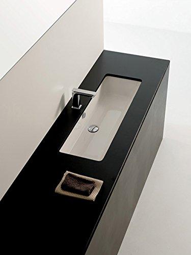 Waschbecken Waschtisch Unterbau Modern Typ Gea Keramik weiß 90x 33cm
