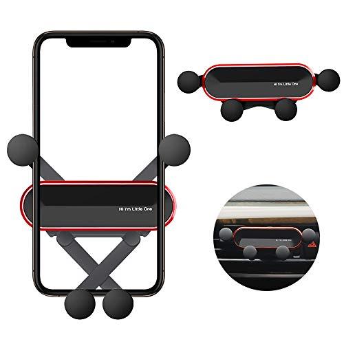 RHESHINE スマホ 車載ホルダー スマホホルダー 車 カー コンパクト 省スペース カーマウント スマホスタンド スマートフォンホルダー 携帯ホルダー スマホステント エアコン吹き出し口用 落下防止 多機種対応 iPhone/Sony/Samsung