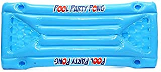 JesseBro76 Inflatable Beer Pool Pong Float Table Raft Lounge Party Game 24 Cup Holder Blue