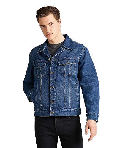 Lee Rider Jacket Chaqueta de mezclilla, Azul (Mid Stone Ke), Medium para Hombre