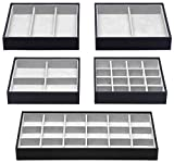 Magic Stackable Jewelry Trays Closet Dresser Drawer Organizer for...