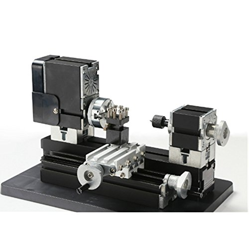 Great Deal! ELEOPTION Mini Metal Lathe, Miniature Metal Lathe Machine DIY 20000 Rev/min Multifunctio...