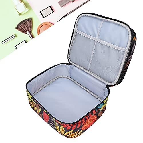 Bolsa de almacenamiento de esmalte de uñas, organizador de almacenamiento de viaje de doble capa de tamaño...
