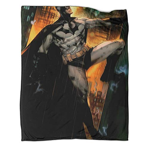 Xaviera Doherty Manta de terciopelo con diseño de Batman The Dark Knight Gotham Movie Artistic Language 80 x 100 cm, individual casual en invierno. Ropa de cama infantil