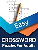 Easy Crossword Puzzle Book For Adults: Easy Large Print Crossword Puzzle Book for Adults and Seniors