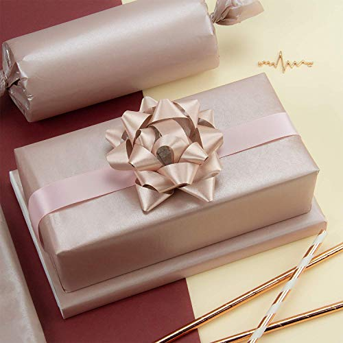 Christ.mas's Gift Wrapping Tissue Paper - Metallic Champagne Gold Tissue Paper for D.I.Y Crafts,Pack Bags - 19.5 x 27.5 inches -25 Sheets