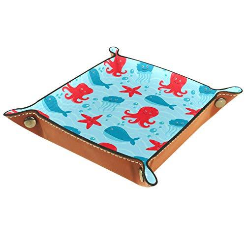 MUMIMI - Plato cuadrado de piel para mujer y niña, diseño de caballo, regalo de cumpleaños para el día de la madre, piel sintética, Color 2, 20.5x20.5cm