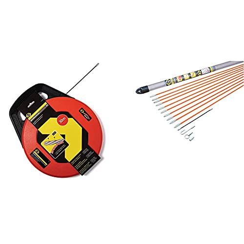C.K T5530 Aiguille tire-fil, 30 Meter & T5410 Jeu de baguettes tire-fils avec accessoires, Multicolore