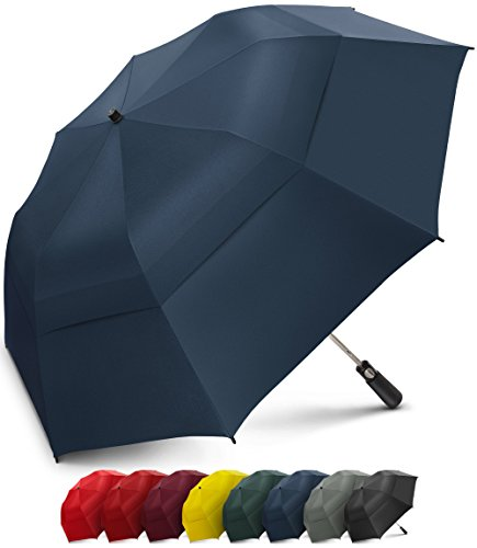 8 Ribs Durable Construction SHINE HAI Travel Umbrella Compact Umbrella for Rain//Snow Auto Open//Close for One Handed Operation
