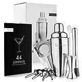 Camium® Cocktail Set [Inkl. Rezeptbuch] Cocktail Shaker Set [Spülmaschinenfest]