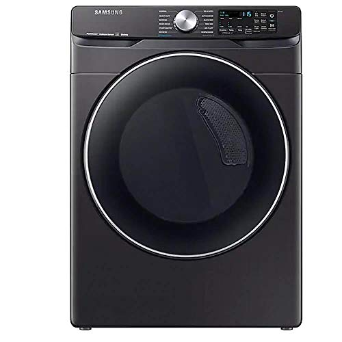 Samsung DVE45R6300V 7.5 Cu. Ft. Black Stainless Smart Electric Front Load Dryer with Steam Sanitize+
