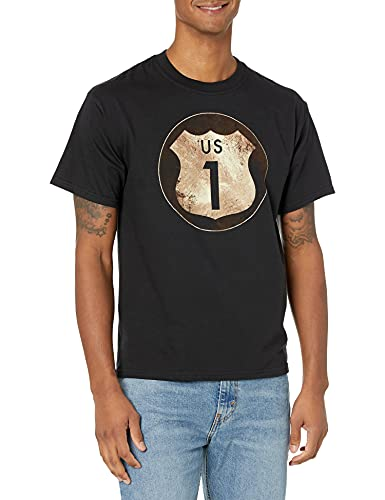 Hanes Men's Graphic Tee - Rugged Outdoor Collection, Route/Black, Large