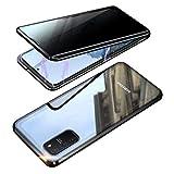 EUDTH Cover Galaxy S10 Lite, Custodia Protezione Struttura in Metallo Magnetico Flip Case + Caso Protettive in Vetro Temperato Privacy Protettiva Cover per Samsung Galaxy S10 Lite/A91/M80s 6.7' (Nero)