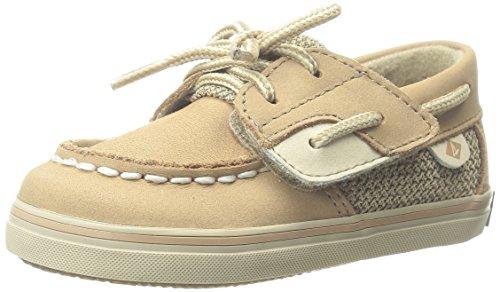Sperry Bluefish Crib A/C Boat Shoe (Infant/Toddler/Little Kid),Linen, 3 M US Infant
