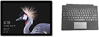 Microsoft Surface Pro 2017 Tablet - Intel Core i5, 12.3 Inch, 256GB, 8GB, Wi-Fi, Windows 10 Pro, Silver with En-Ar Keyboard - Black
