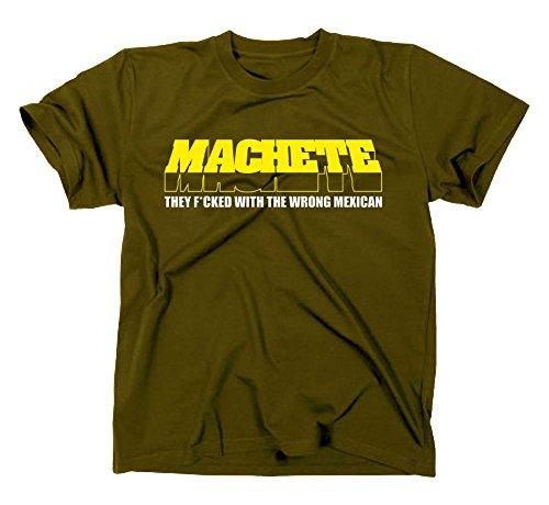 Machete Kult T-Shirt Planet Terror Grindhouse, Rodriguez Tarantino Oliv L