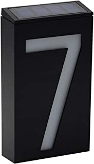 LED Address Numbers Plaques, House Number Sign, Wall Mounted Sign, Solar Powered (Digit 7)