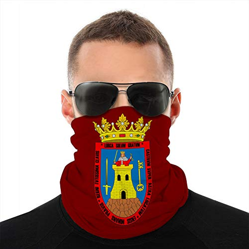LJKHas232 Neck Gaiter Windproof Cover Cover Shield Balaclava Scarf Cover Flag of Lorca in Region of Murcia in Spain Scarf