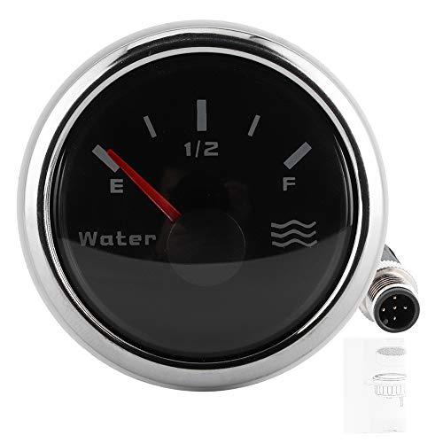 Calibrador de nivel de agua a prueba de agua, probador de calidad del agua 9-30V E-½-F 52 mm de acero inoxidable y ABS para barcos yates 52mm
