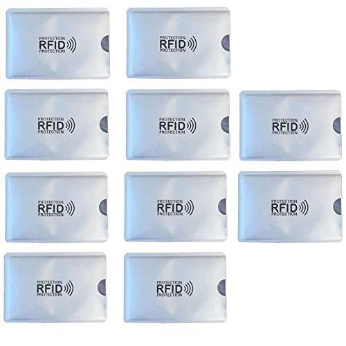KRS 10xRFI Schutzhülle Schutz RFID NFC für Kreditkarten EC Karten RFID Blocker (10 Stück)