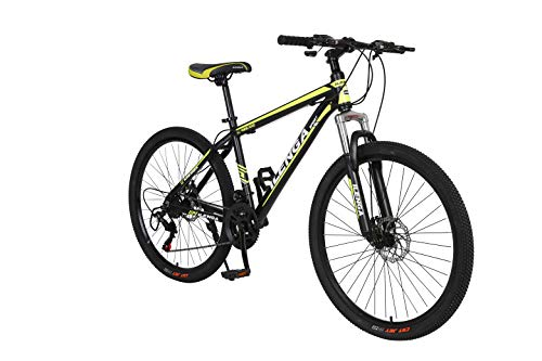 Hurricane, 26 Inch Mountain Bike, Suspension, Adult, Ilenga, Trail, Off Road, Lightweight Alloy, Black/Yellow