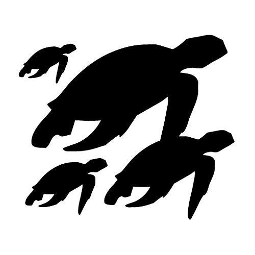 leononlinebox Sea Turtle Family - Adhesivo de Vinilo para Coche, Bicicleta, iPad,...