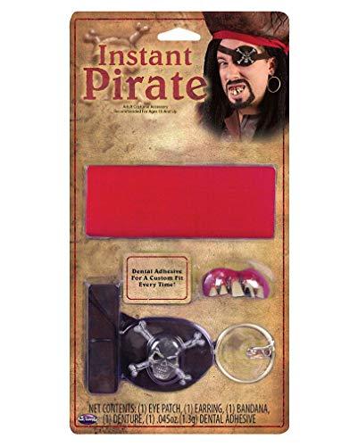 Horror-Shop Pirate Set avec Pirate Dents