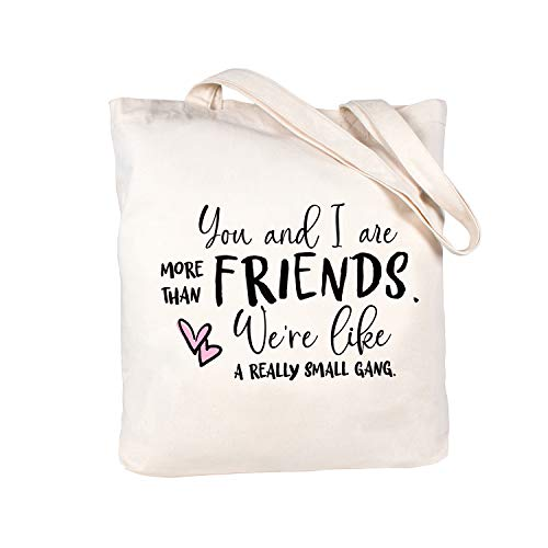 ElegantPark Friend Gifts Friendship Gifts for Women Birthday Gifts for Friend Christmas Valentines day Graduation Gifts for Friends Female Canvas Cotton Friends Tote Bag with Interior Pocket
