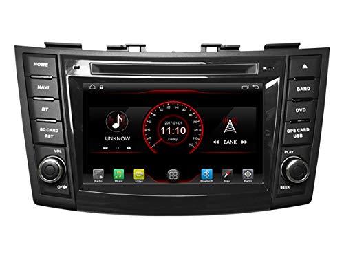 Autosion Android 10 Autoradio Lecteur DVD GPS stéréo Radio multimédia pour Suzuki Swift 2011 2012 2013 2014 2015 2016 2017 Suzuki Ertiga Commande au volant
