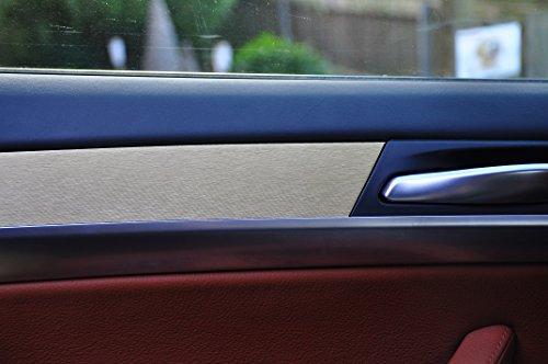 12 tlg. Alu gebürstet gold Look Zierleisten Interieurleisten Folien SET 100µm stark , Türleisten, Mittelkonsole, Aschenbecher passend für Ihr Fahrzeug